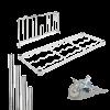 Componentes em aço cromado